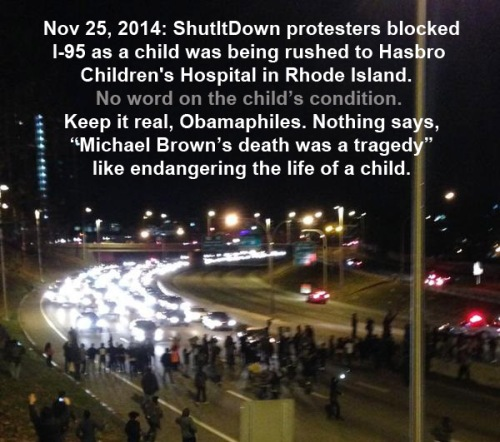 2014_11 25 ShutitDown blocks route to ped hospital RI