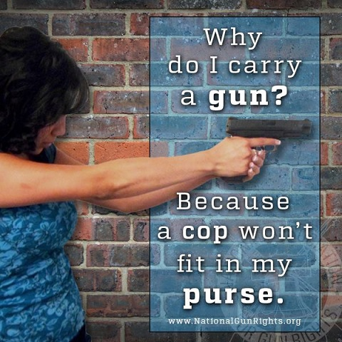 2d Amendment A cop won't fit in my purse