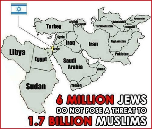6 million Jews pose no threat to Muslims