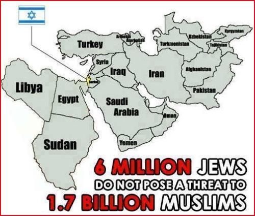 6 million Jews pose no threat to Muslims