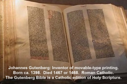 Gutenberg was Catholic