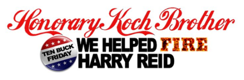 Honorary Koch Brothers banner