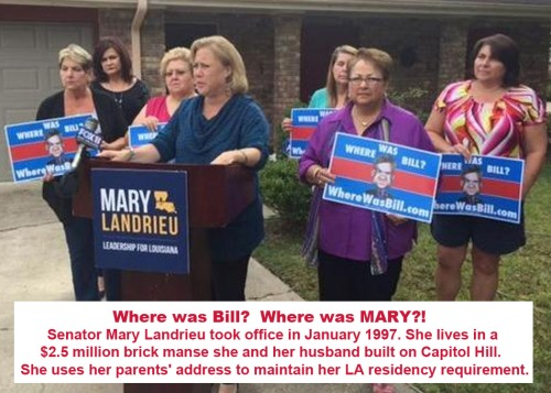 Landrieu has no LA home