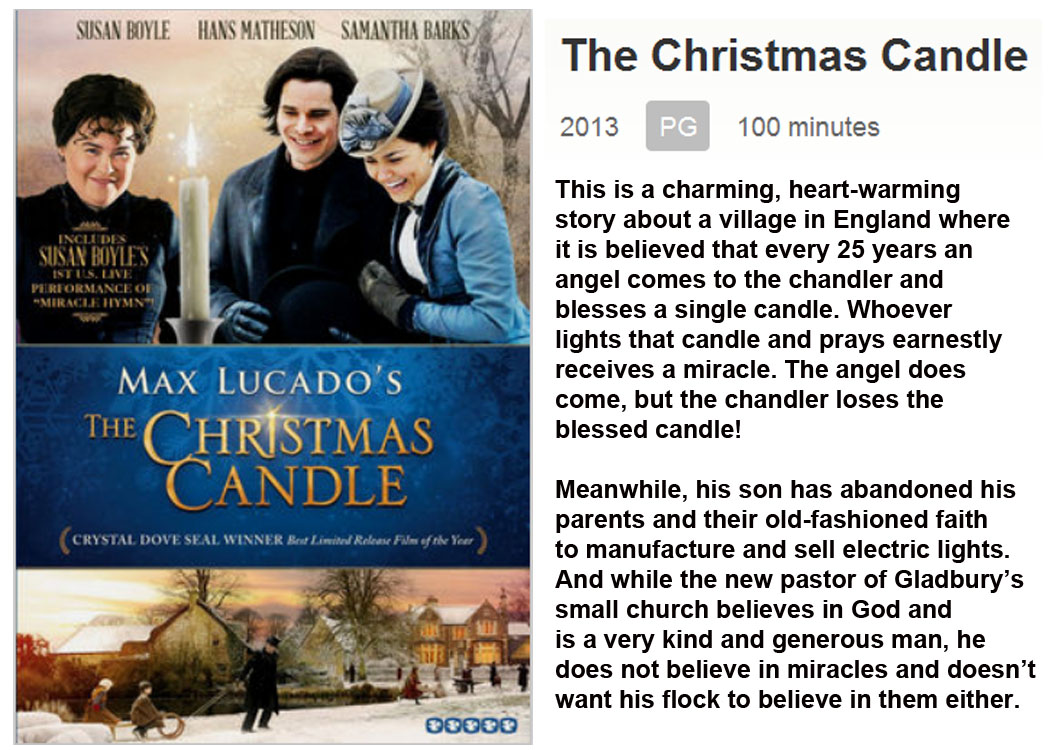MOVIE RECOMMENDATION: The Christmas Candle |