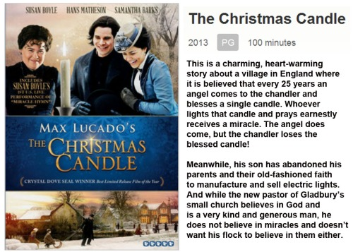 MOVIE Christmas Candle