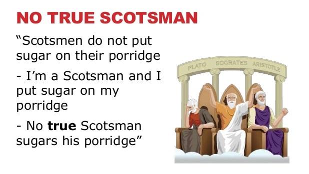 The U201cNo True Scotsmanu201d Fallacy