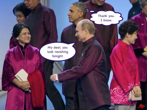 Barack Obama, Vladimir Putin, Iriana Widodo, Park Geun-hye