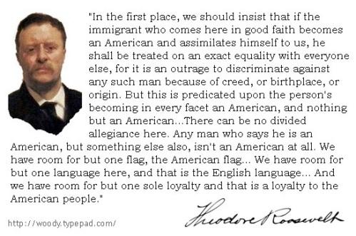 Teddy Roosevelt on immigration