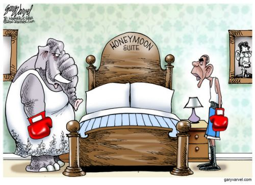 Cartoonist Gary Varvel: The GOP/Obama political honeymoon