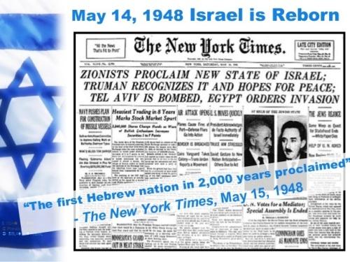 1948_05 14 Israel is reborn NYT