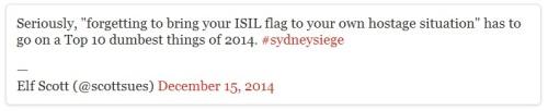 2014_12 15 Dumb hostage taker forgets his flag