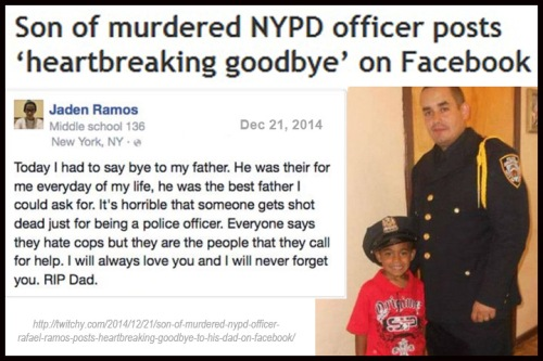 2014_12 21 NYPD cop's son posts good bye