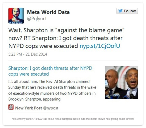 2014_12 21 Sharpton doesn't like death threat