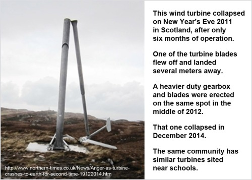 2011_12 Wind turbine in Scotland collapses