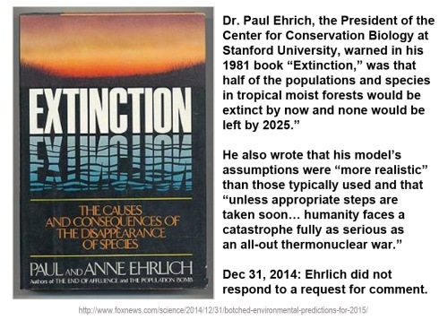 2014_12 31 Extinction predictions