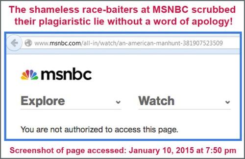 2015_01 10 MSNBC scrubs fake photo