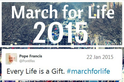 2015_01 22 Pope Francis tweets March for Life