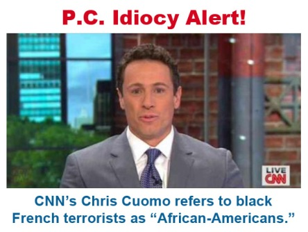 2015_01 CNN talking head calls black Frenchman African American