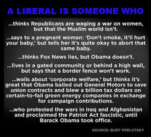 A liberal is someone who