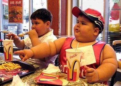 Fat kids at McD's