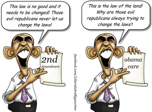 Obama toon - Changing the law