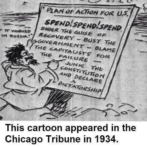 1934 Communist plan toon
