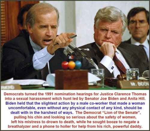 1991 Biden and Kennedy at Thomas hearing
