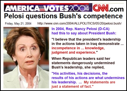 2004 Pelosi rips Bush