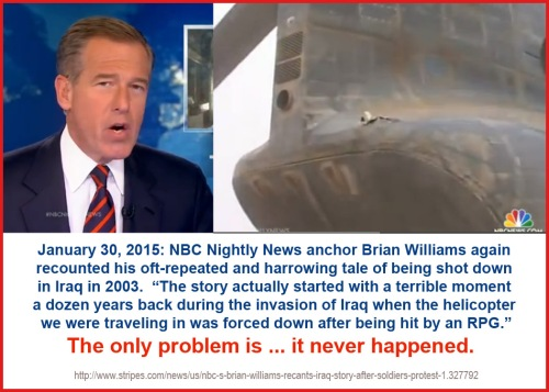 2015_01 30 Brian Williams lies again