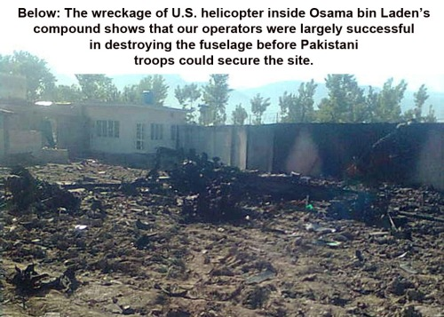 Chopper downed in bin Laden raid - fuselage destroyed