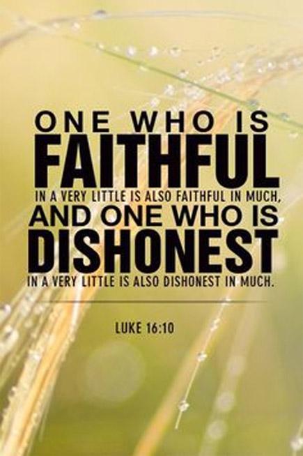 Luke 16 10