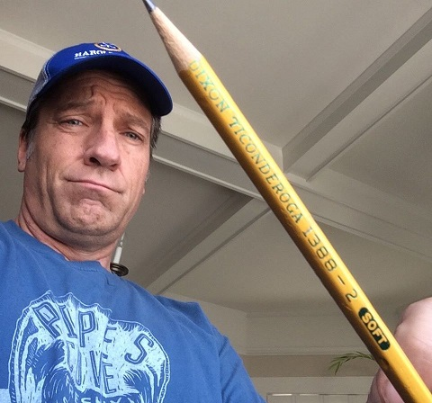 Mike Rowe with pencil