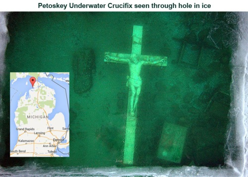 Petoskey Crucifix ice map