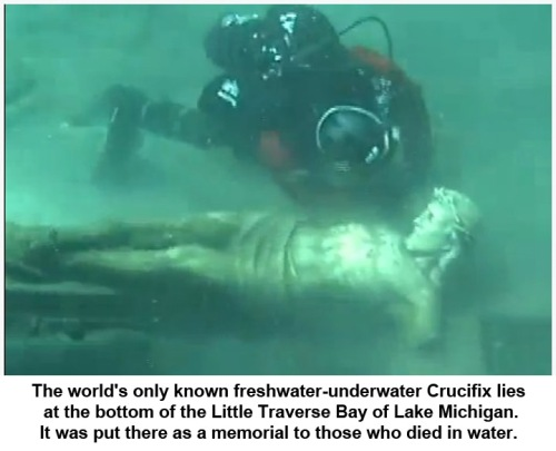 Petoskey Underwater Crucifix