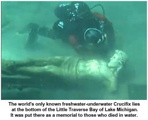Petoskey Underwater Crucifix