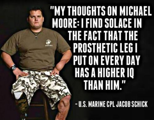 Schick's opinion of Michael Moore - prosthetic IQ
