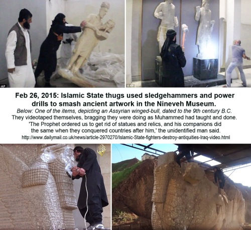 2015_02 26 Daesh thugs smash ancient art