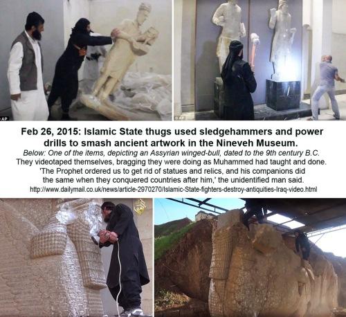 2015_02 26 Daesh thugs smash ancient art