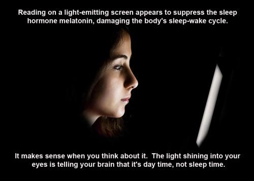 2015_03 02 Light emitting screens suppress melatonin