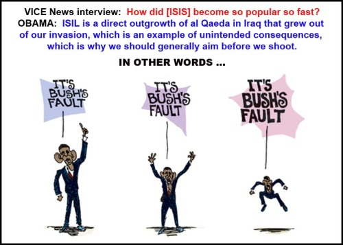 2015_03 16 BHO blames ISIS on Bush