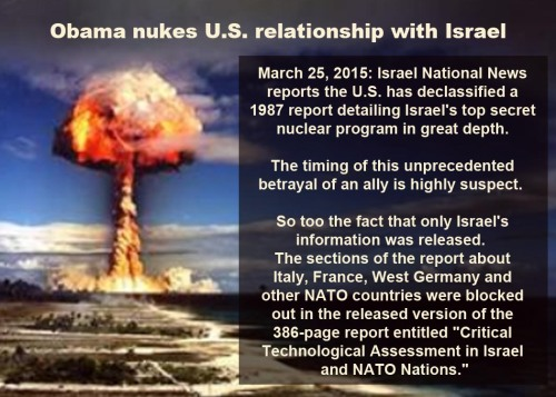 2015_03 25 Obama nukes US relationship with Israel