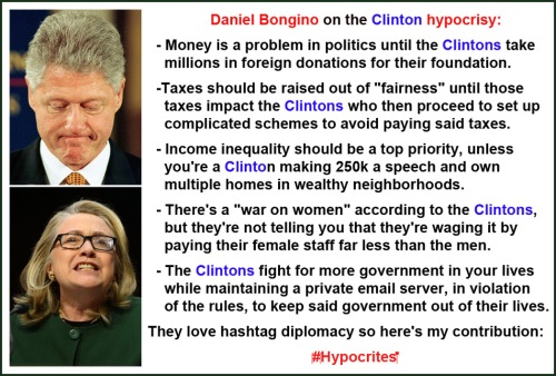 Bongino on Clinton hypocrisy
