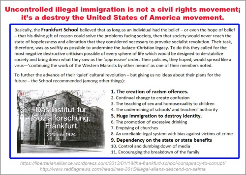 Frankfurt School Uncontrolled illegal immigration