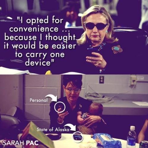 Hillary vs Sarah - phones