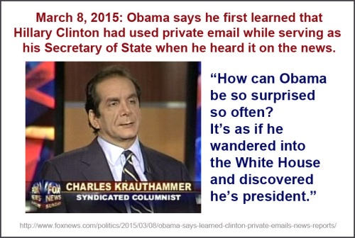 Krauthammer - Obama surprised