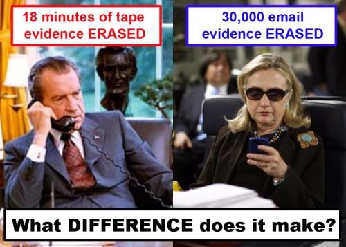 Nixon-Hillary erased evidence