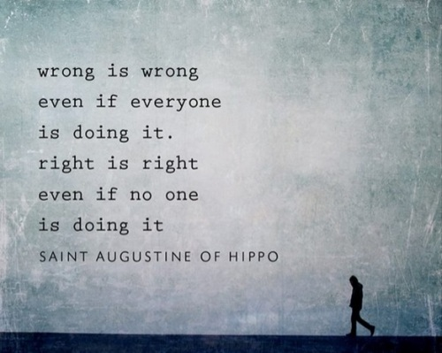 St Augustine Wrong and right