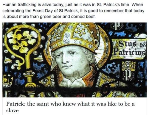 St Patrick was a slave