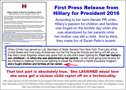 2015_04 12 Hillary's first press release