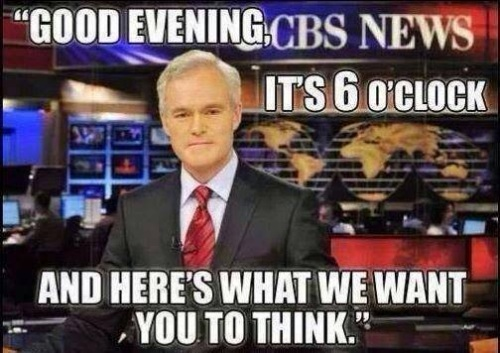 CBS here's what we want you to think